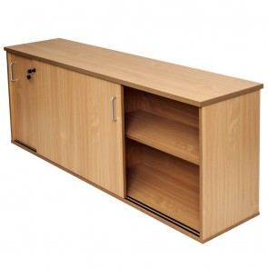 Beech Office Sliding Door Credenza