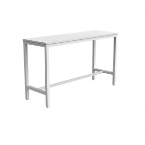 Enterprise Office Bar Height Learner White Frame Table
