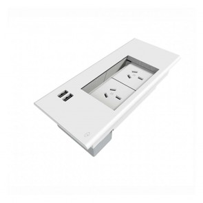 Office Workstation Flush Mounted 2x GPO Power Panel 2x USB
