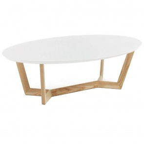 Olesine Coffee Table Ash Timber Legs White Top