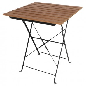 Ovela Faux Wood Bistro Table Square 600mm