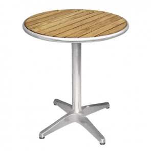 American Ash Round Outdoor Cafe Table