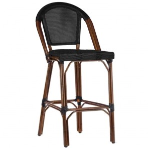 Paris Bar Stool with Fabric Seat