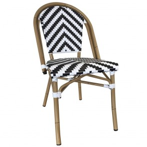 Paris Chevron Wicker Outdoor Chair