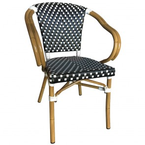 Parisian Wicker Outdoor Arm Chair
