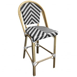 Parisian Wicker Outdoor Bar Stool