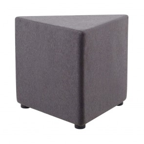 Pia Triangle Fabric Ottoman