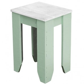 Recycled Wood Cafe Stool Custom Colour with White Top