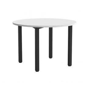 Enterprise Round Office Meeting Table Black Legs