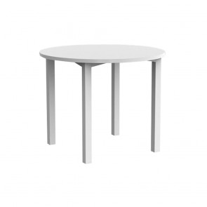 Enterprise Round Office Meeting Table White Legs