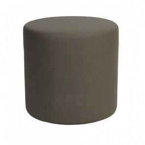 Julianne Round Ottoman Commercial Quality Vinyl