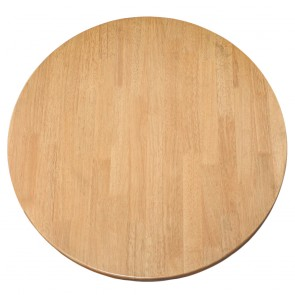 Round Wood Table Top Oak Finish