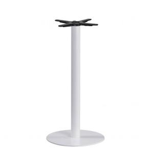 Olea Round White Bar Table Base
