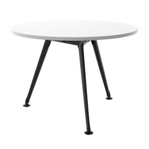 Round Office Team Meeting Table Black 3 Leg Base