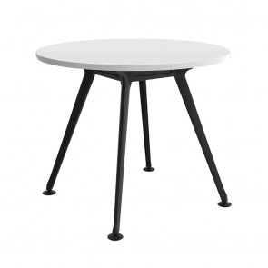 Infinity Round Office Meeting Table 4 Black Legs