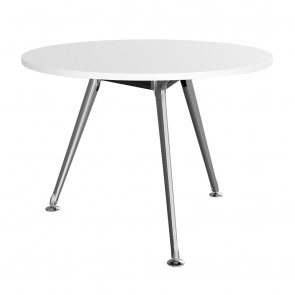 Infinity Round Office Meeting Table 3 Chrome Legs