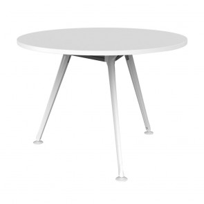 Infinity Round Office Meeting Table 3 White Legs