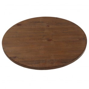 Round Vintage Industrial Timber Table Top