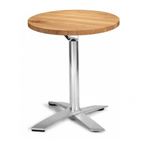 Rylie Stackable Oak Round Timber Folding Table