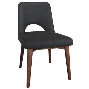 Scandi Side Chair Walnut Legs