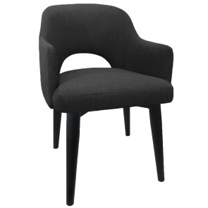 Scandi Tub Chair Black Metal Legs