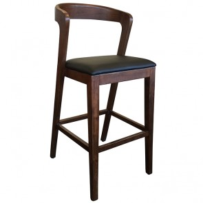 Siana Commercial Timber Padded Bar Stool