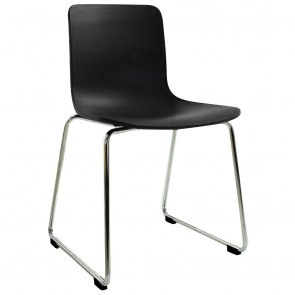 Skylar Poly Chair Chrome Sled Legs