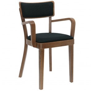 Solid Upholstered Dining Chair with Arms B-9449/1