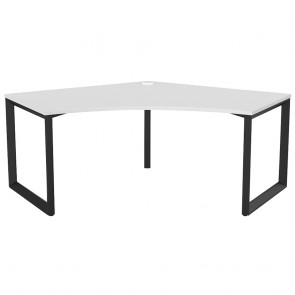 Space 120 Degree Office Desk Black Frame