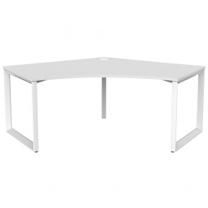 Space 120° Office Corner Desk White Frame