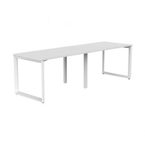 Space 2 Person Office Desk White Frame