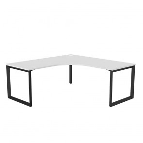 Space Corner Office Desk Black Frame