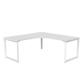 Space 90° Office Corner Desk White Frame