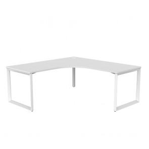 Space 90° Office Corner Desk White Frame
