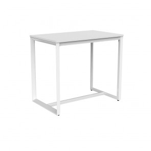 Space Bar Height Counter Table White Frame