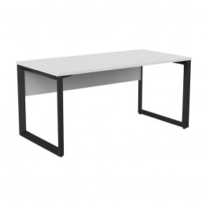 Space Office Desk Black Frame with Modesty Panel