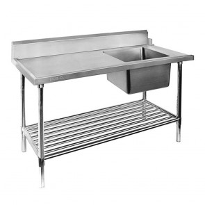 SSBD7-1200R/A - Right Inlet Single Sink Dishwasher Bench