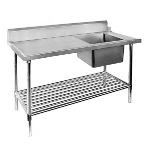 SSBD7-1500R/A - Right Inlet Single Sink Dishwasher Bench
