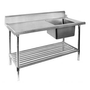 SSBD7-1800R/A - Right Inlet Single Sink Dishwasher Bench