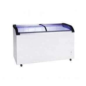 ST445 FED Two glass sliding lids chest freezer With castors - ST445