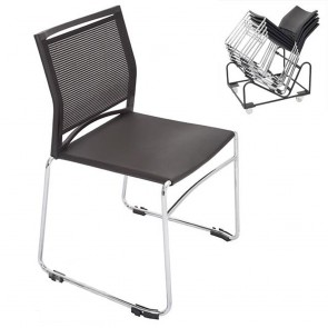 Stackable Black Chair Linking