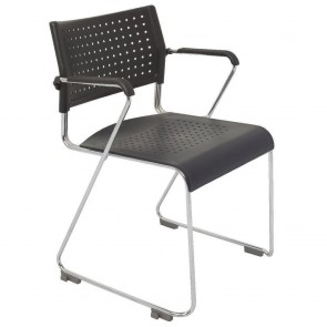 Stackable Sled Base Chair with Arms