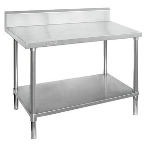 Stainless Steel Table with Splashback WBB7-1500/A