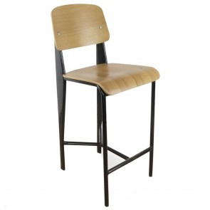 Standard Bar Stool White Oak Prouve Jean Replica 68cm
