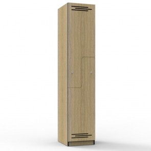 Oak Step Door Melamine Locker