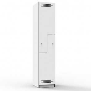 White Step Door Melamine Locker