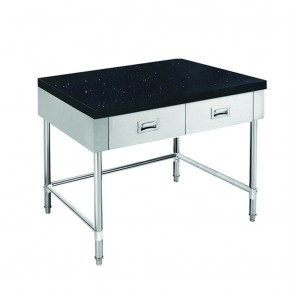 SWBD-6-0900-LS FED S/S Kitchen Tidy Cabinet With Drawers & Stone Top - 600mm Deep SWBD-6-0900-LS