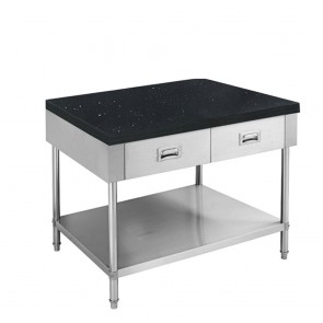 SWBD-6-0900-S FED S/S Kitchen Tidy Cabinet With Drawers & Stone Top - 600mm Deep SWBD-6-0900-S