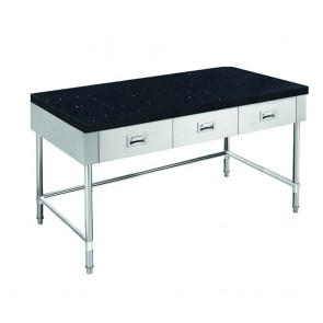 SWBD-6-1500-LS FED S/S Kitchen Tidy Cabinet With Drawers & Stone Top - 600mm Deep SWBD-6-1500-LS