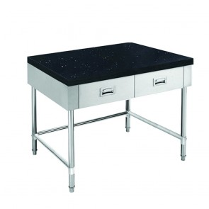 SWBD-7-0900-LS FED S/S Kitchen Tidy Cabinet With Drawers & Stone Top U Shape Brace - 700mm Deep SWBD-7-0900-LS